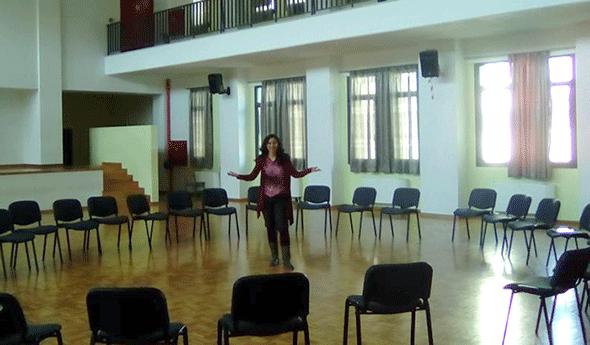 Η Ρένα σε βιωματικό εργαστήρι για την τεχνική Δάσκαλος σε Ρόλο